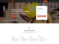 Free Construction Landing Page