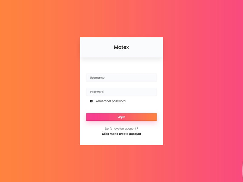 matex admin template login by m m rahman akash dribbble dribbble
