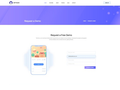 Request a Demo template design website templates html website templates corporate responsive website templates clean user interface design landing page template modern