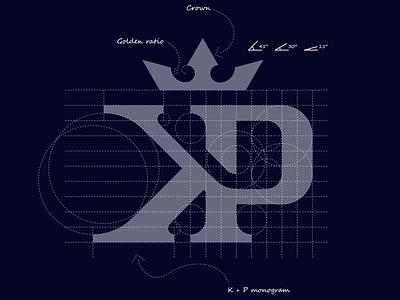 K + P monogram logo logodesigner