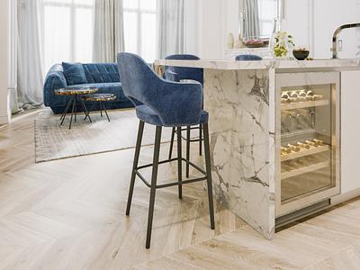 Modern classic white render interior design interior corona render classic architecture 3dsmax 3d