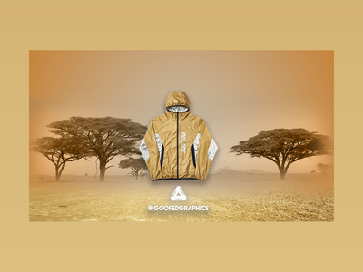 PALACE™ Windbreaker Release design branding apparel mockup apparel design