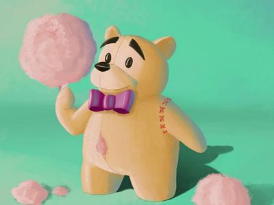 Howard, the greedy bear digital painting digital illustration illustration