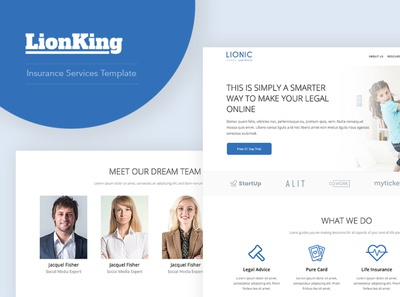 LionKing - WordPress template for Insurance company