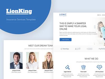 LionKing - WordPress template for Insurance company gutenberg wordpress theme design ux retirement layer legal insurance