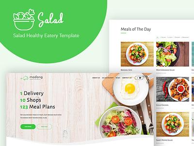 Salad - WordPress Theme for Nutritionist wordpress theme eatery healthy