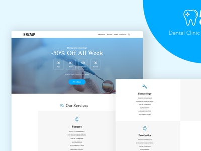 Dental Clinic - WordPress Theme for Dentistry ui dental care gutenberg wordpress theme
