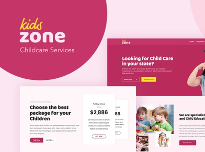 Kids Zone - WordPress Theme for Childcare