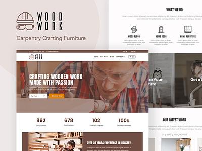 WoodWork - WordPress Theme for Carpentry gutenberg web design and development wordpress theme woodwork carpentry