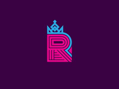 R Monogram / logo design concept logo designer identity design identity mark logo design logotype letter r letter monogram brandmark crown icon lettermark minimal branding logo