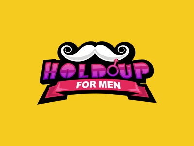 hold up for men logo v1 medical logodesign brand icon symbol design branding pleasure women vector happiness sexual sex mustache ribbon product men mark combination mark logo