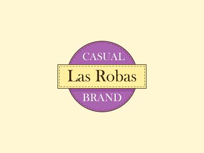 Las Robas logo circles clothing geometric branding lettermark symbol mark icon logo