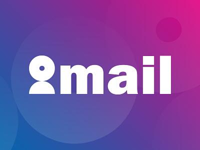 Domail logo monogram domain mail flat symbol man website design lettermark vector branding mark minimal icon logo