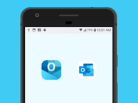 Redesign Outlook App Icon for Mobile