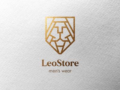 LeoStore Logo store lion logo