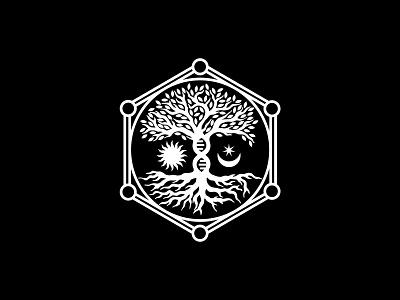 Science Of Life Alchemy logotype tree logo tree symbol brandmark logomark mark sign logo cbd packaging cbd logo cbd oil cbd