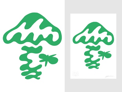 Nature's Shapes VI abstract art abstraction vector collaboration hand drawn drawing illustrator nature illustration nature art nature mushroom symbol graphicdesign sign illustration