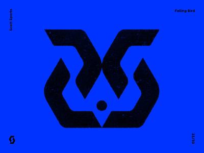 Falling Bird modern symbolism logo designer logo design contemporaryart contemporary graphicdesign illustration sign modernist modernism modernart symbol icon artwork trademark brandmark logomark marks mark bird