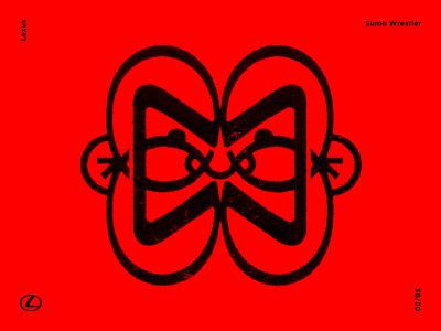 Sumo Wrestler logo designer vector art artwork graphicdesign illustration contemporaryart contemporary modernart symbolism modernism modernist trademark brandmark logomark logo lexus sign sumo japanese japan