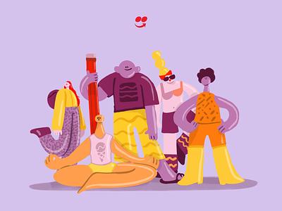 iFood Design Team branding design vector illustration