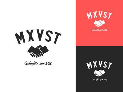 MXVST Logo handlettering hands shaking hands maxvorstadt münchen branding
