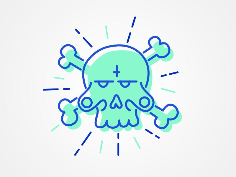 Skull Line Illustration skull