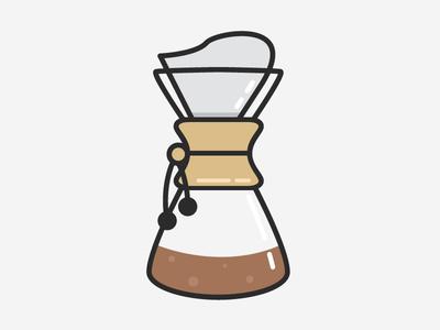 Chemex Icon icon logo line coffee chemex