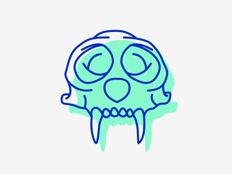 Cebus Skull Line Icon cebus ape colour icon skull animal