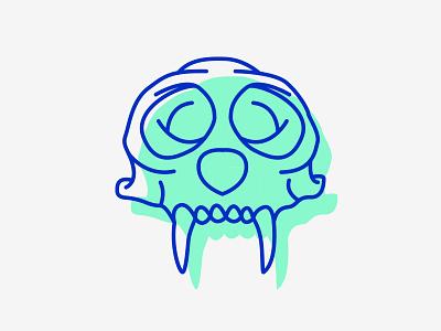 Cebus Skull Line Icon cebus ape colour icon skull animal