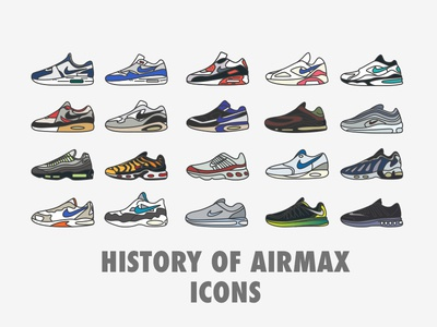 History Of Air Max Icons download free icons shoes sneaker airmax nike
