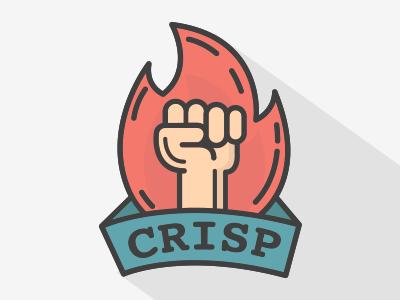 Crisp Fist llustration typo up fistup fist fire crisp