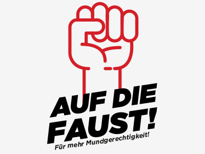 Auf die Faust Logo fist illustration logo food