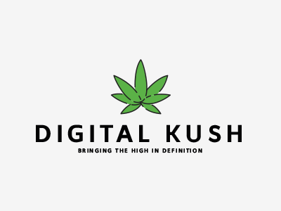 Digital Kush definitiv high illustrator branding logo digital kush weed