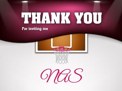 Thank you, NAS dribbble invite thanks shot