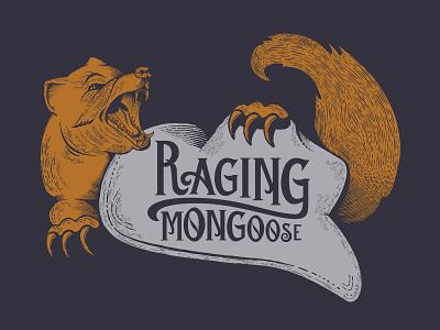 Raging Mongoose Brewing Company Concept vector branding logo design illustration