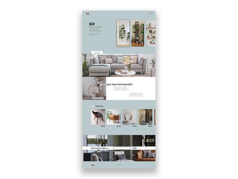 Decor Webpage website illustration vector logo desktop branding color palette corporate design adobexd