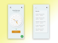Clock in application