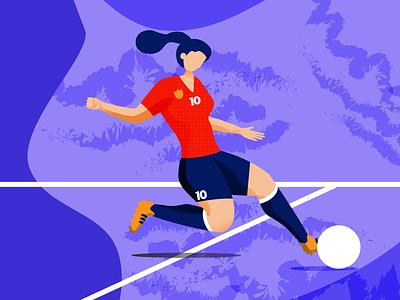 Women's World Cup - The Striker women in illustration women empowerment drawing sports design soccer illustration