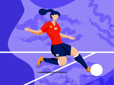 Women's World Cup - The Striker women in illustration women empowerment drawing sports design soccer illustration