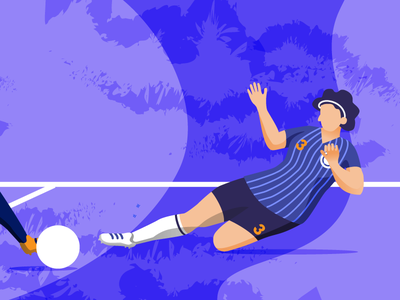 Women's World Cup - The Sweeper illustrator drawing illustration women empowerment sports design soccer