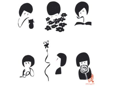 【LITTLE ME】 doodleaday original art drawing doodleart design illustration