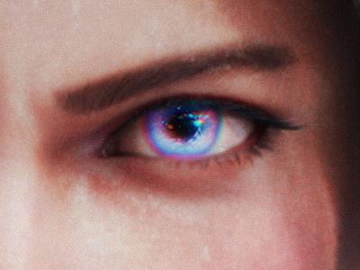 WARRIORS —Eye Closeup gaming design creative direction