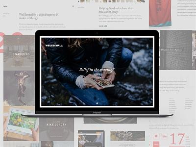 WLS.v4 is live. Belief in the Making.™ art direction ux ui agency website design