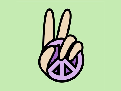 CND Peace colorful icon design icon vector art vectors green simple logo simplistic simple bold design bold colors peace out fingers hand peace sign peace vector branding illustration design