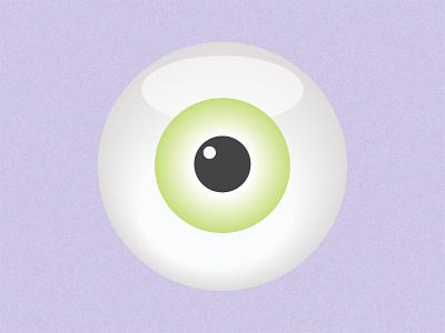 Starey Eyed pupil retina green pastel stare eyes eyeballs eyeball eye grainy grain design simplicity vector illustration