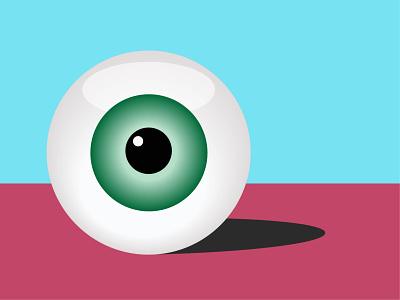 Eye icon simplistic surreal art surreal colourful sharp clean lines flat illustration eye catching eyeball eye vector illustration