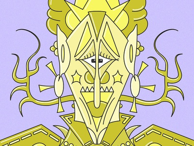 Gold Robot 🤖 shiny illustration art weird surrealism intricate lines robotics gold robot vector illustration