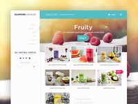 Ecommerce Store Page product ecommerce store products candles fruit menu web design user interface ui e-commerce shop