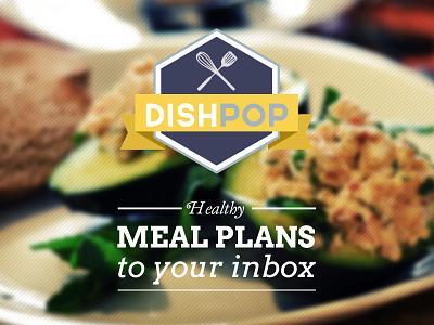 DishPop Branding branding logo food ribbons