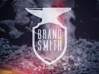 Brandsmith Branding branding logo blacksmith anvil grungy